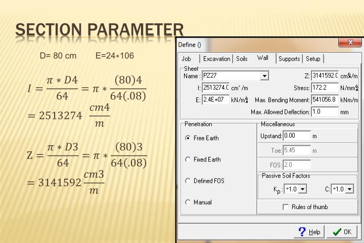 Section parameter