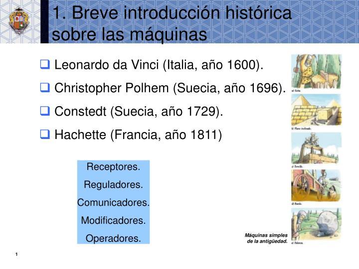 1. Breve introducción histórica sobre las máquinas