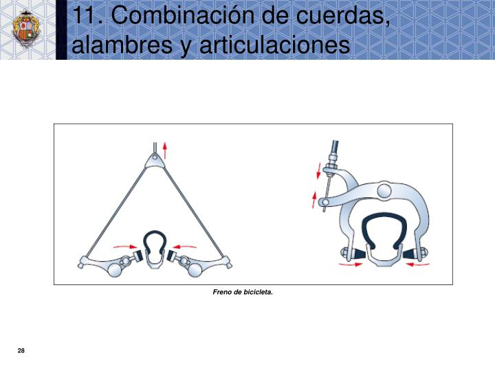 11. Combinación de cuerdas, alambres y articulaciones