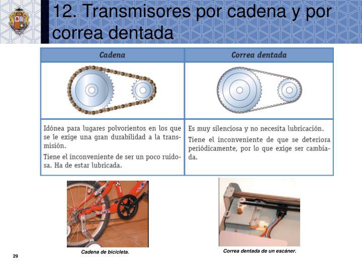 12. Transmisores por cadena y por correa dentada