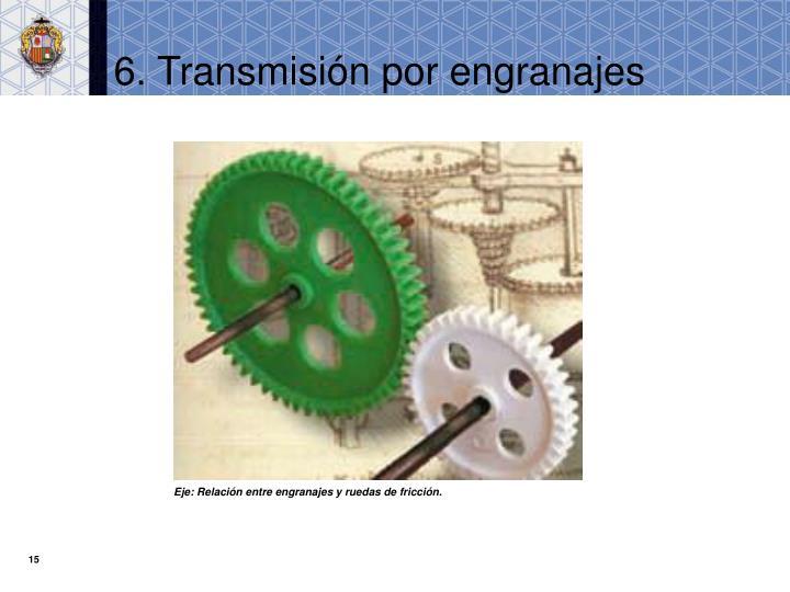 6. Transmisión por engranajes