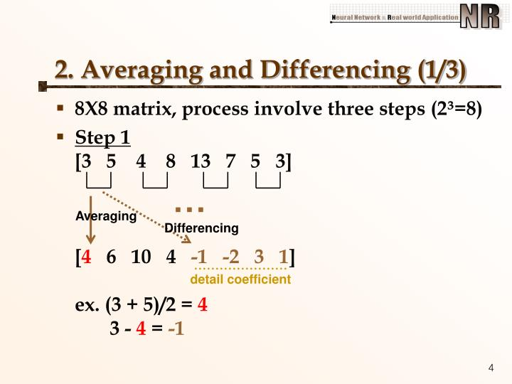 2. Averaging and Differencing (1/3)