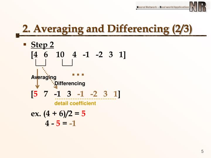 2. Averaging and Differencing (2/3)