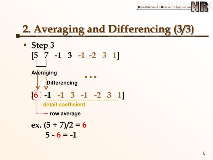 2. Averaging and Differencing (3/3)