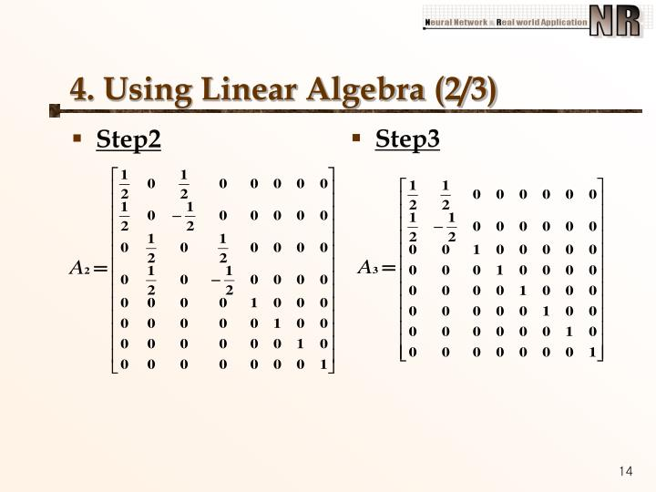 4. Using Linear Algebra (2/3)