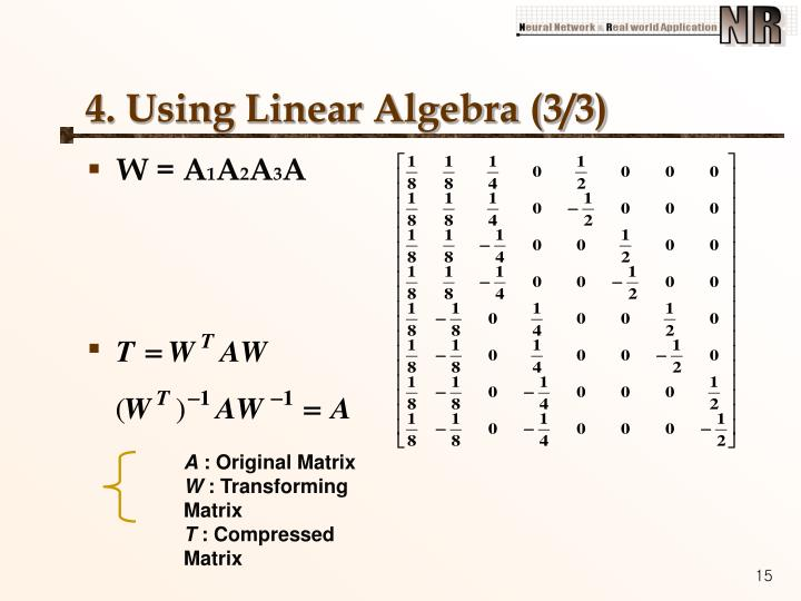 4. Using Linear Algebra (3/3)
