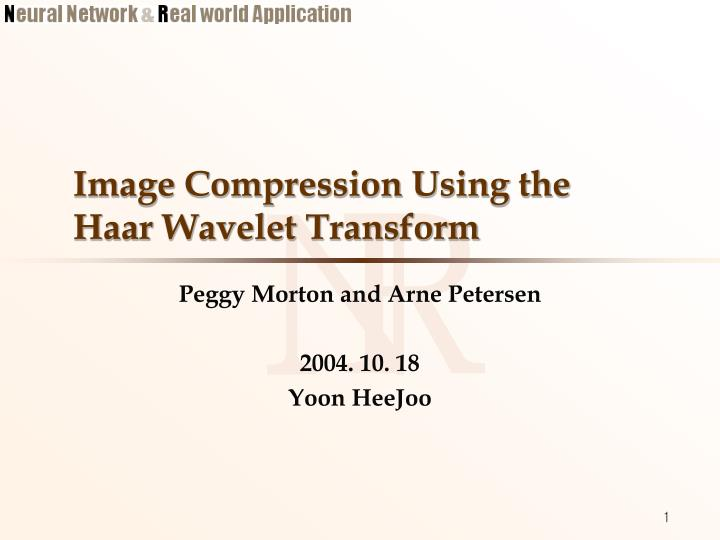 Image compression using the haar wavelet transform