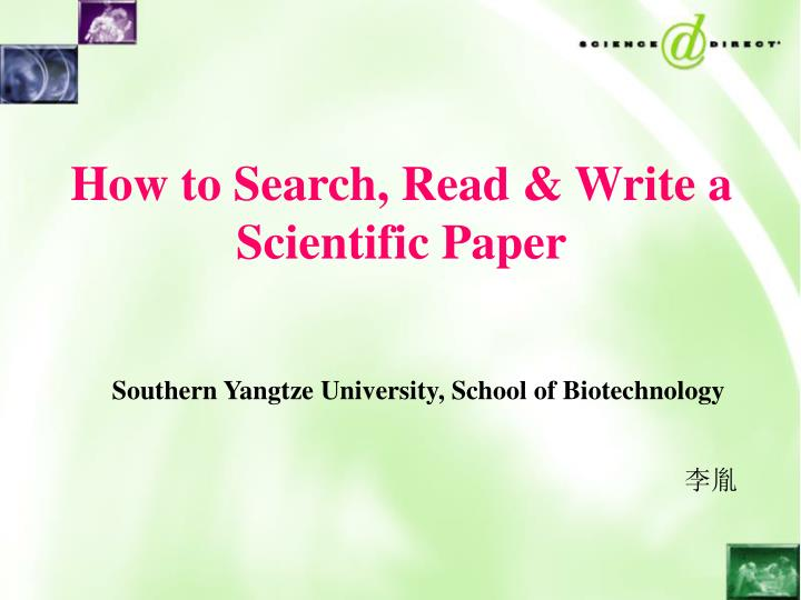Guidelines for Writing Scientific Papers