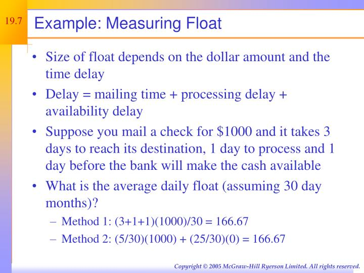 Example: Measuring Float