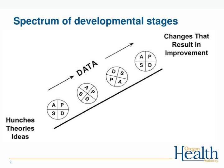 Spectrum of developmental stages