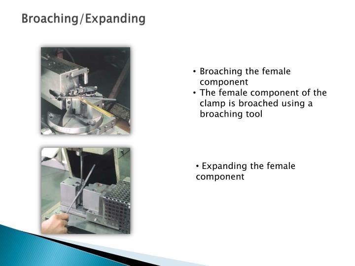 Broaching/Expanding