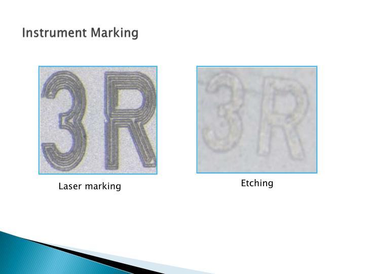 Instrument Marking