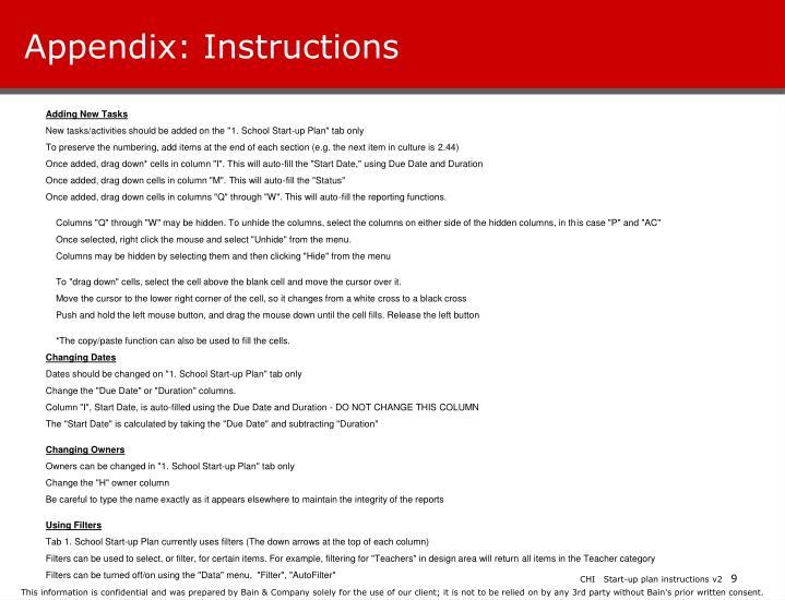 Appendix: Instructions