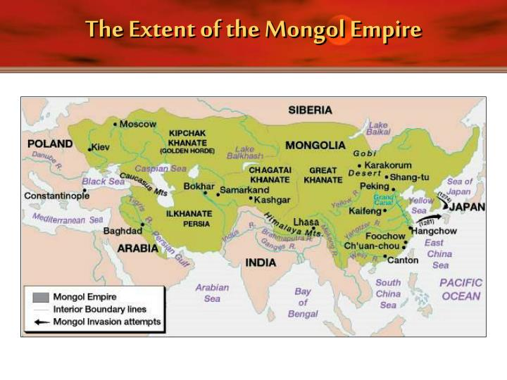 The Extent of the Mongol Empire