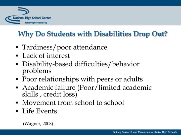Why Do Students with Disabilities Drop Out?
