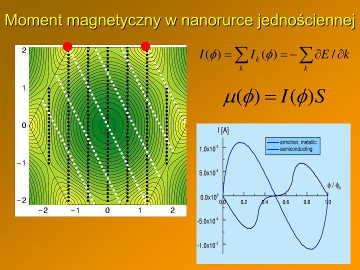 Moment magnetyczny w nanorurce jednościennej