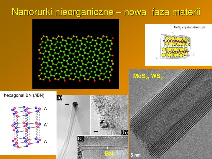 Nanorurki nieorganiczne – nowa  faza materii