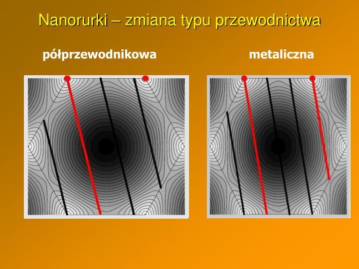Nanorurki – zmiana typu przewodnictwa