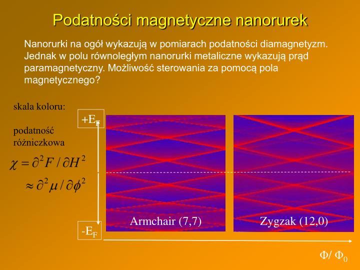 Podatności magnetyczne nanorurek
