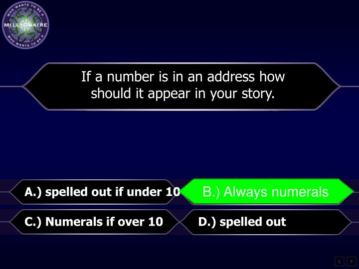 If a number is in an address how
