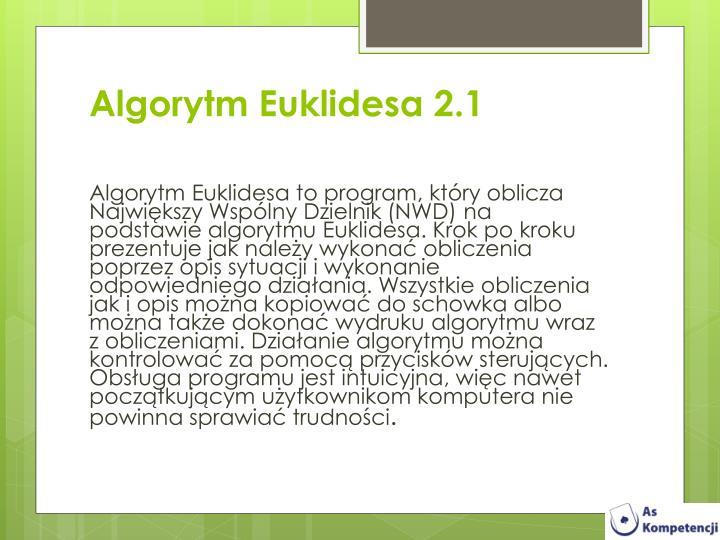 Algorytm Euklidesa 2.1