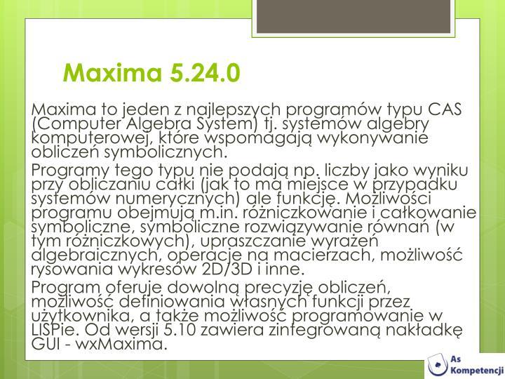 Maxima 5.24.0