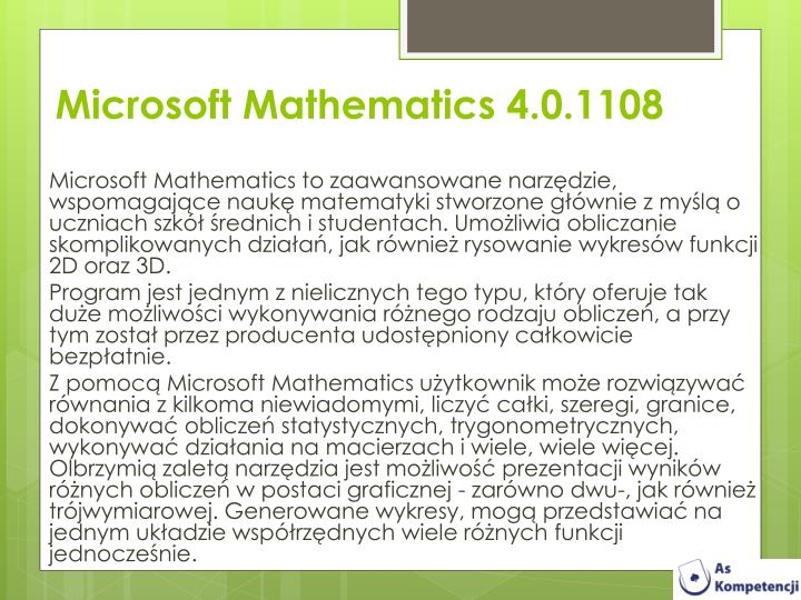Microsoft Mathematics 4.0.1108