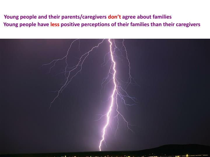 Young people and their parents/caregivers