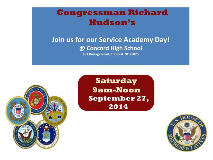 Congressman Richard Hudson's
