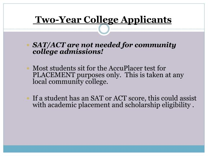 Two-Year College Applicants