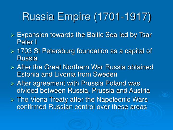 Russia Empire (1701-1917)