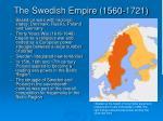 the swedish empire 1560 1721