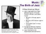 music the birth of jazz