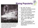 rising popularity