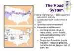 the road system