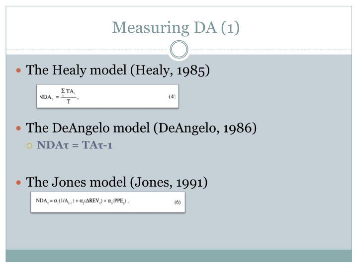 Measuring DA (1)