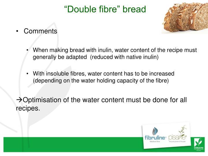 """""""Double fibre"""" bread"""