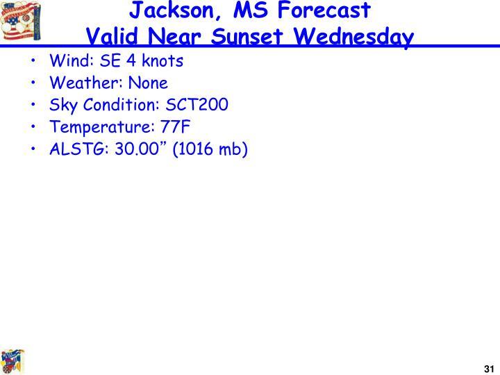 Jackson, MS Forecast