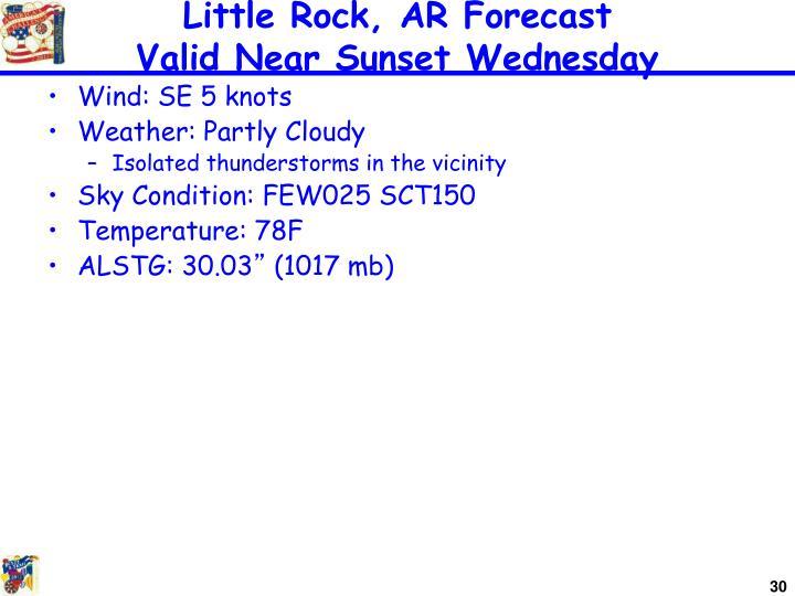 Little Rock, AR Forecast