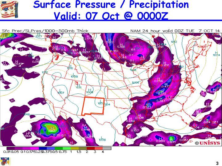 Surface Pressure / Precipitation