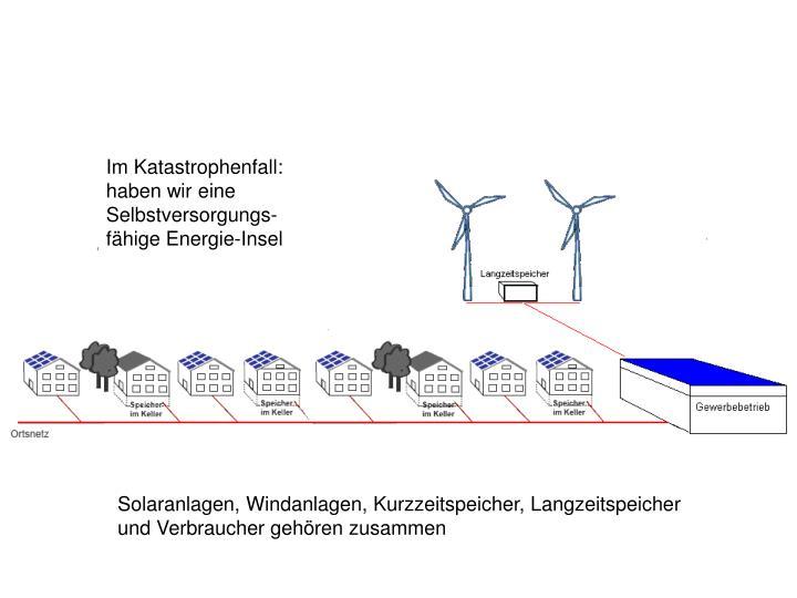 Im Katastrophenfall: haben wir eine Selbstversorgungs-fähige Energie-Insel