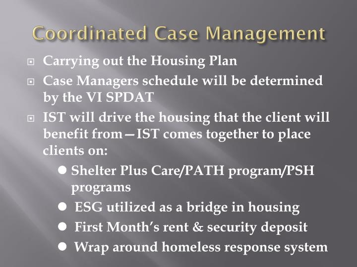 Coordinated Case Management