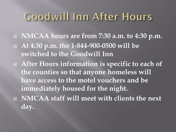 Goodwill Inn After Hours