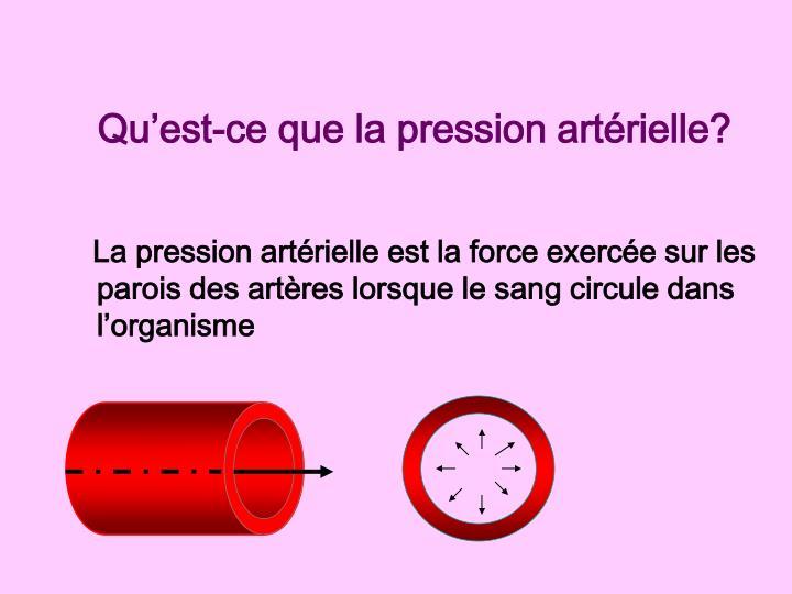 Qu'est-ce que la pression artérielle?