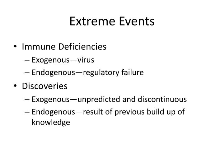 Extreme events1