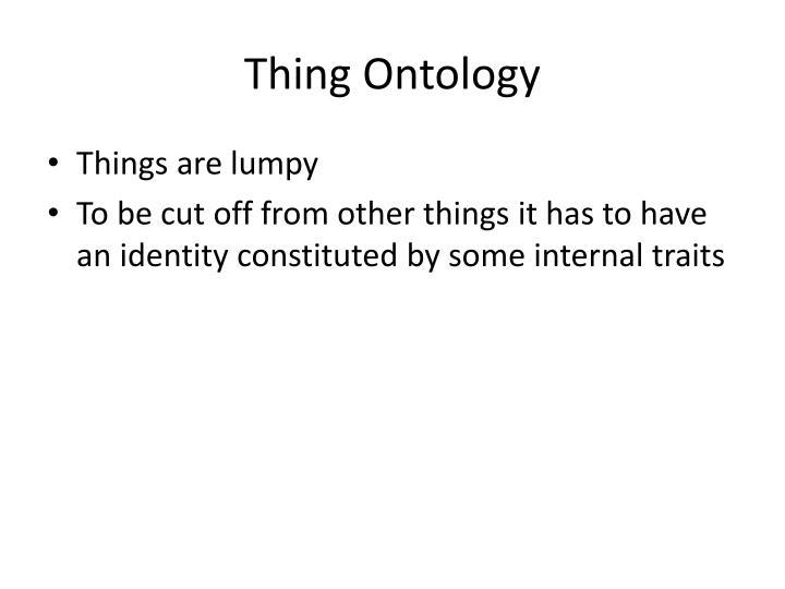 Thing Ontology
