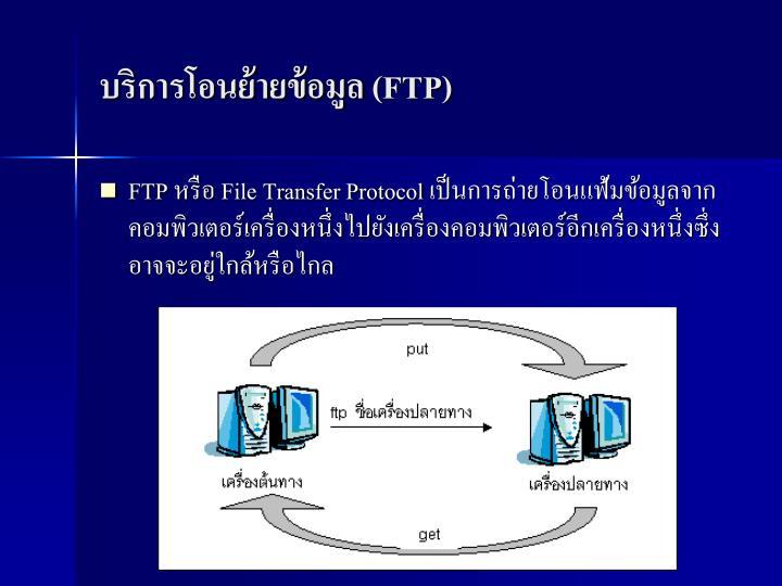 บริการโอนย้ายข้อมูล (