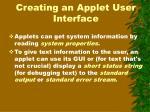 creating an applet user interface2