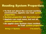 reading system properties
