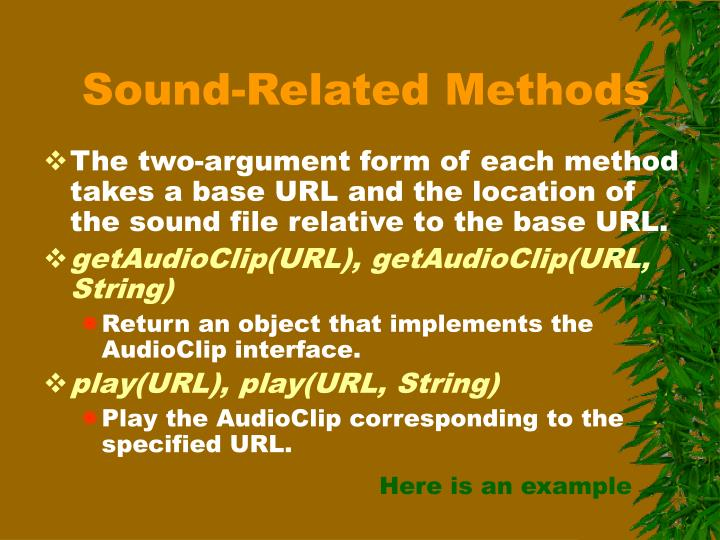 Sound-Related Methods